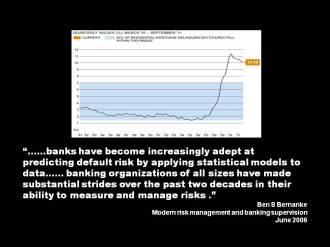 Quote Bernanke banks predicting default risk