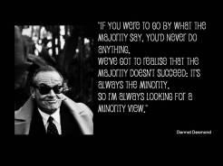 Quote Desmond majority minority view