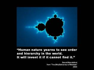 Quote Mandelbrot human nature hierarchy