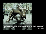 Paul Rubin quote brillance bull market
