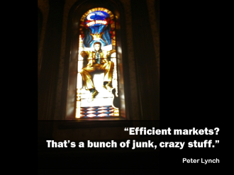 Peter Lynch quote efficient markets junk