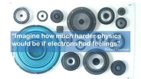 Richard Feynman quote electrons feelings